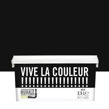 Peinture noir VIVE LA COULEUR! 2.5 l