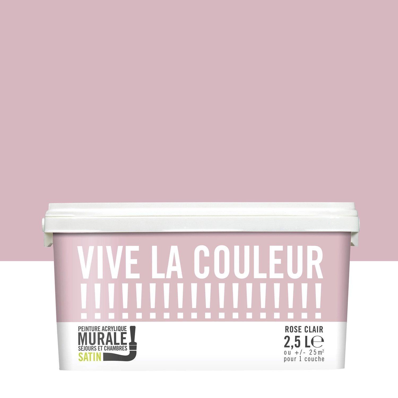 Peinture rose clair VIVE LA COULEUR! 2.5 l | Leroy Merlin