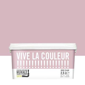 Peinture rose clair VIVE LA COULEUR! 2.5 l