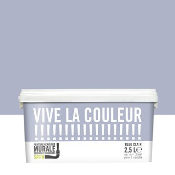 Peinture bleu clair VIVE LA COULEUR! 2.5 l