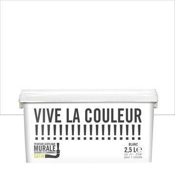 Peinture blanc VIVE LA COULEUR! 2.5 l