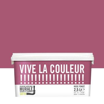 Peinture rose foncé VIVE LA COULEUR! 2.5 l