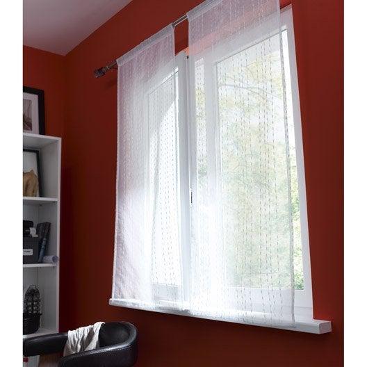 paire de vitrages petite hauteur livia inspire blanc x cm leroy merlin. Black Bedroom Furniture Sets. Home Design Ideas