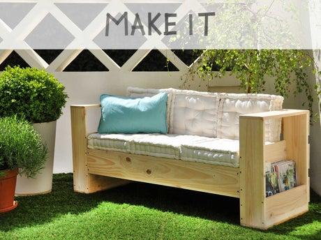 Diy r aliser un canap d ext rieur en bois leroy merlin - Fabriquer un canape en bois ...