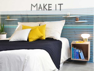 diy fabriquer une cabane de lit leroy merlin. Black Bedroom Furniture Sets. Home Design Ideas