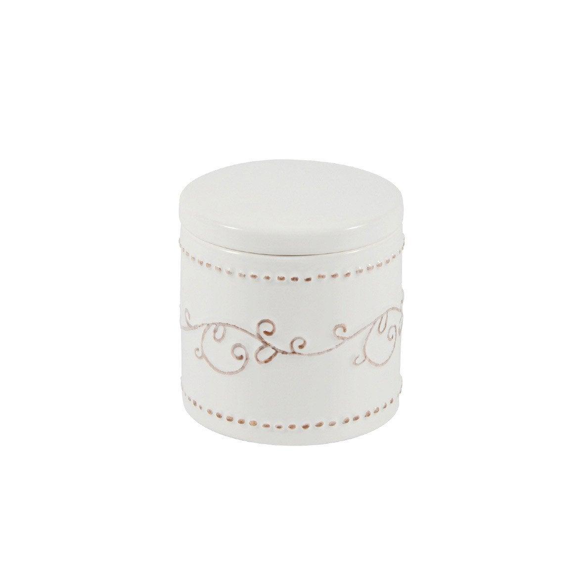 Boîte céramique Emmy, blanc