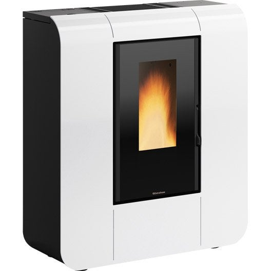 po le granul s extraflame glenda wifi blanc 6 kw leroy merlin. Black Bedroom Furniture Sets. Home Design Ideas