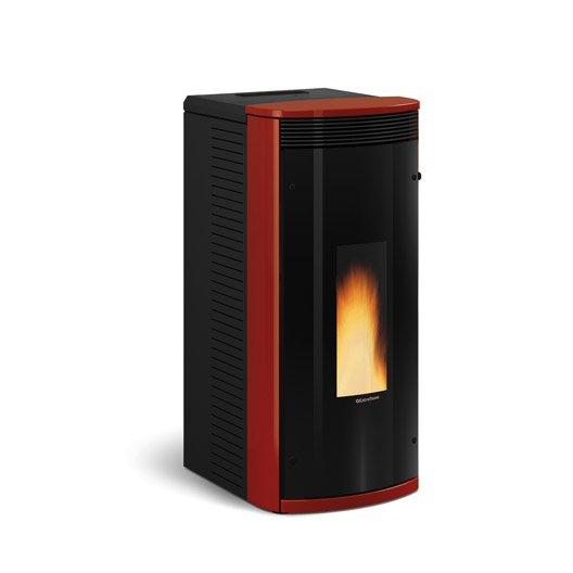 po le granul s extraflame sibilla plus bordeaux 8 2 kw leroy merlin. Black Bedroom Furniture Sets. Home Design Ideas