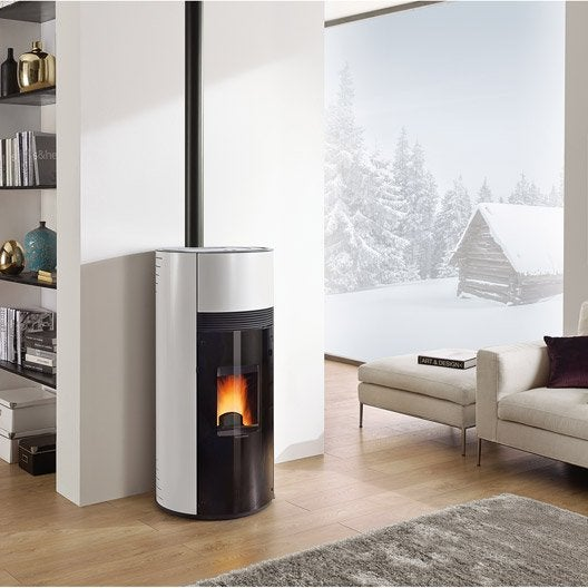 po le granul s extraflame doroty blanc 9 kw leroy merlin. Black Bedroom Furniture Sets. Home Design Ideas