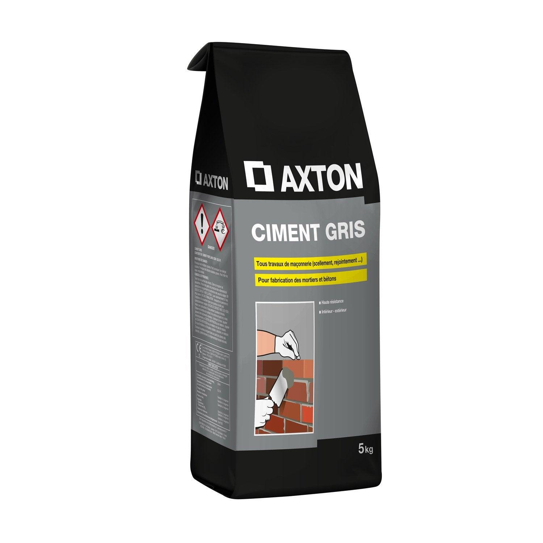 Charmant Ciment Poudre Gris AXTON, 5 Kg