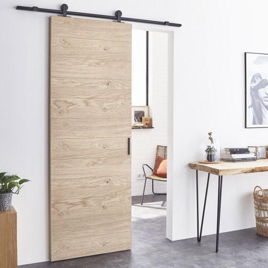 ensemble porte coulissante noe mdf 93cm rail bolero 2 en aluminium leroy merlin. Black Bedroom Furniture Sets. Home Design Ideas