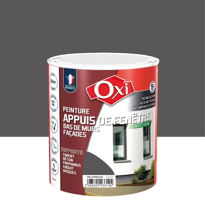 Peindre Fenetre Pvc En Gris peinture appui de fenêtre oxytol, gris anthracite, 1 l