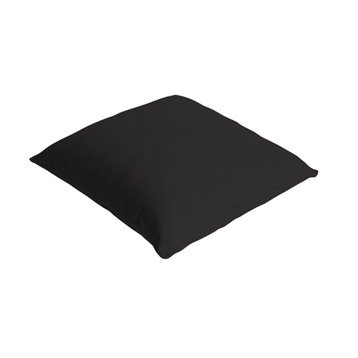Coussin Bachet, noir noir n°0, 40 x 40 cm