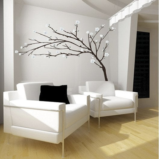 sticker branche design 50 x 70 cm leroy merlin. Black Bedroom Furniture Sets. Home Design Ideas
