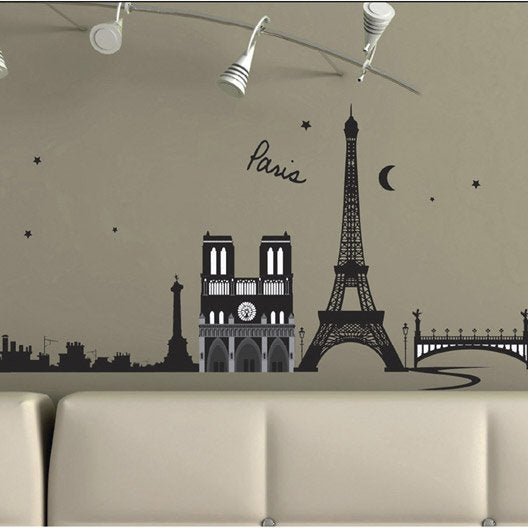 sticker paris france 50 x 70 cm leroy merlin. Black Bedroom Furniture Sets. Home Design Ideas