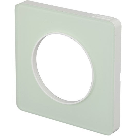 Plaque simple schneider electric s rie odace coloris for Plaque translucide leroy merlin