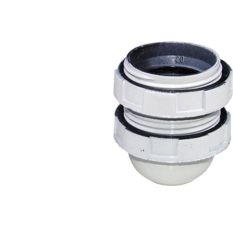 Douille Toute Filetée E27 Tibelec Plastique Blanc 60 W