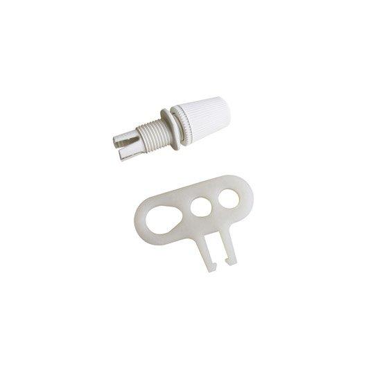 Chape de suspension TIBELEC, plastique, blanc