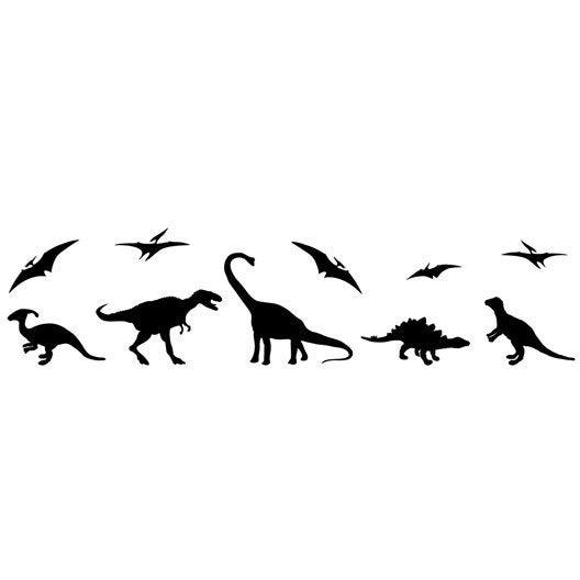 Pochoir frise dinosaure family maison deco leroy merlin for Frise murale grande largeur