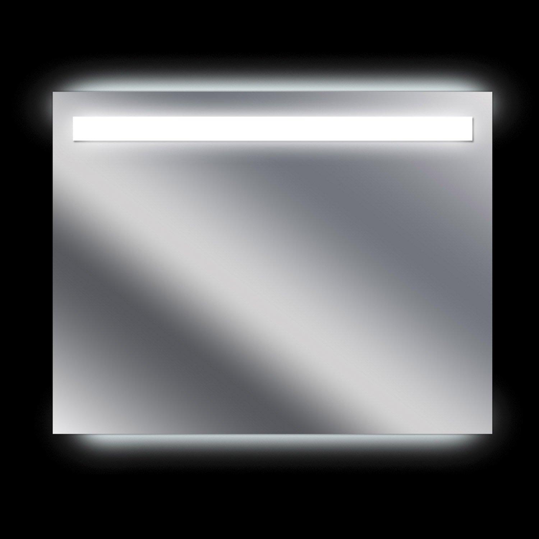 Miroir lumineux avec clairage int gr x cm - Miroir salle de bain lumineux avec prise de courant ...