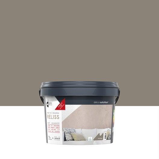 Peinture effet reliss 2 en 1 maison deco mohair 15 kg - Peinture effet crepi interieur ...