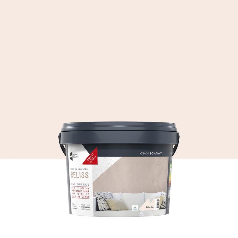 Peinture à Effet Reliss 2 En 1 Maison Deco Toile De Lin 15 Kg