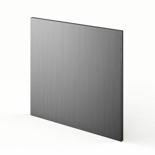 Porte pour lave vaisselle int grable d cor aluminium for Porte pour lave vaisselle integrable
