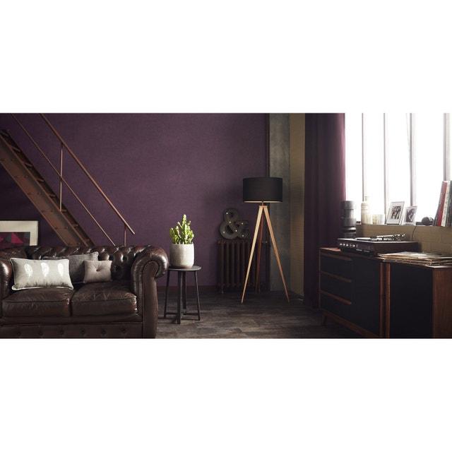 Un salon industriel noir et violet leroy merlin - Salon noir et violet ...