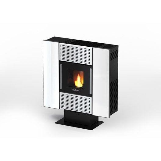 po le granul s freepoint square verre blanc 6 5 kw leroy merlin. Black Bedroom Furniture Sets. Home Design Ideas