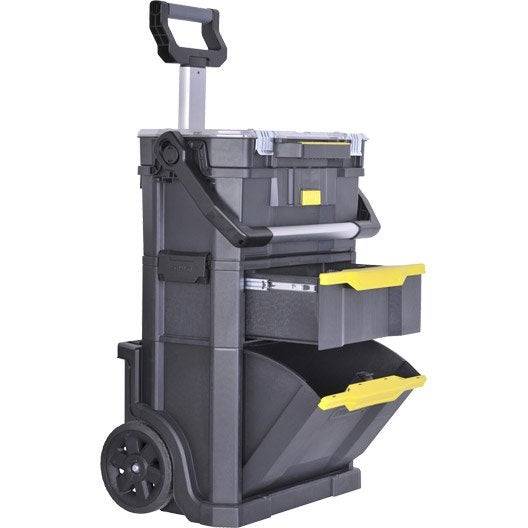 Servante de chantier stanley modulo 2 en 1 plastique - Servante de chantier ...