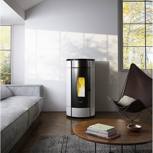 po le granul s freepoint globe blanc 10 5 kw leroy merlin. Black Bedroom Furniture Sets. Home Design Ideas