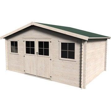 Abri bois Yukon, 13.56 m² Ep.28 mm