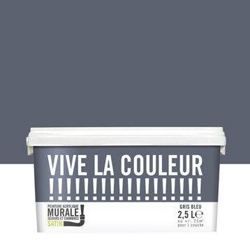 Peinture gris bleu VIVE LA COULEUR! 2.5 l
