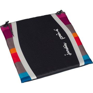 Coussin d'assise de chaise ou de fauteuil multicolore Malaga JARDIN PRIVE