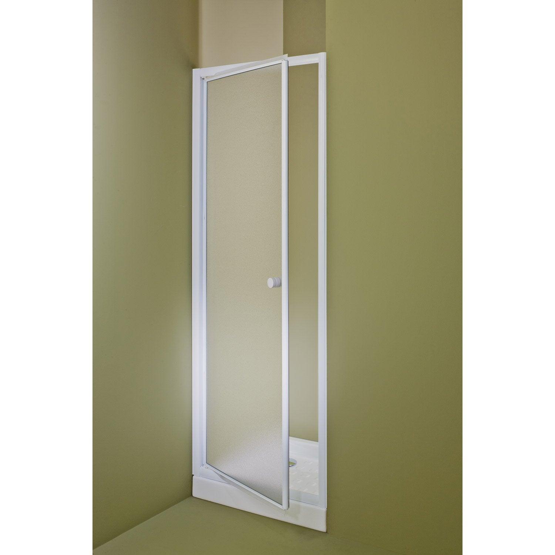 Porte de douche pivotante 90 cm, granité, Primo   Leroy Merlin 67c07bc184f