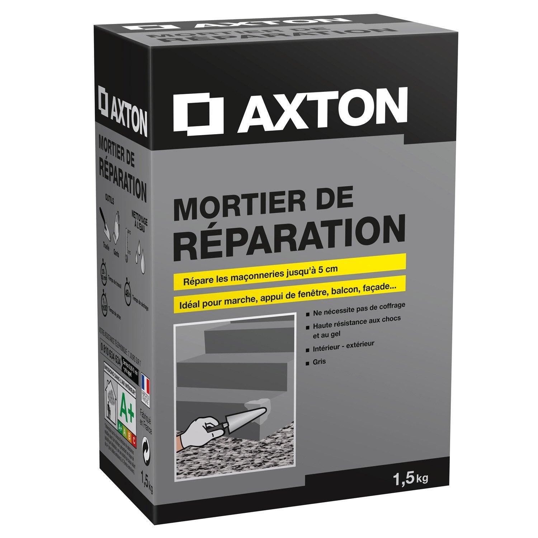mortier de r paration poudre gris axton 1 5 kg leroy merlin. Black Bedroom Furniture Sets. Home Design Ideas