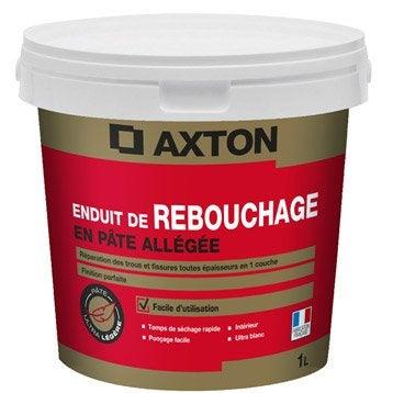 Enduit de rebouchage pâte blanc AXTON, 1 kg