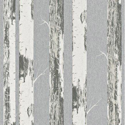 Papier peint intissé Bouleau gris | Leroy Merlin