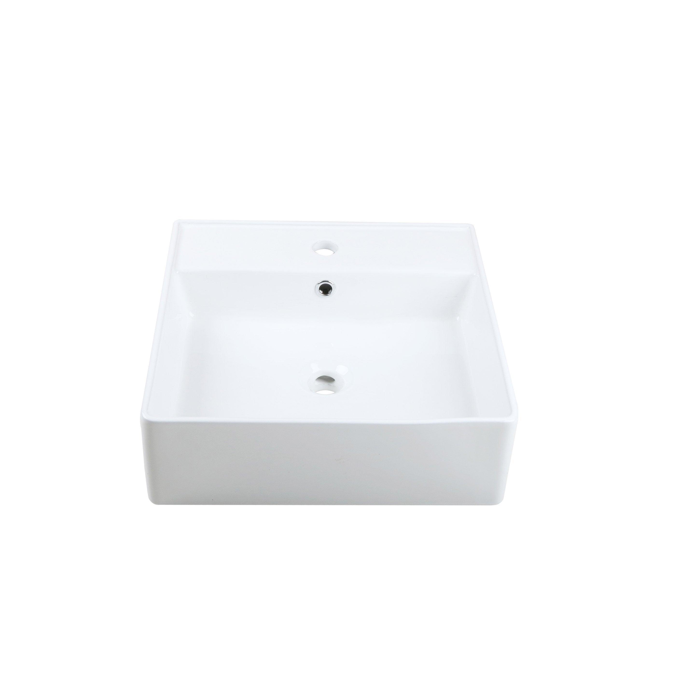 Vasque à poser céramique l.46 x P.46 cm Diam.46 cm blanc