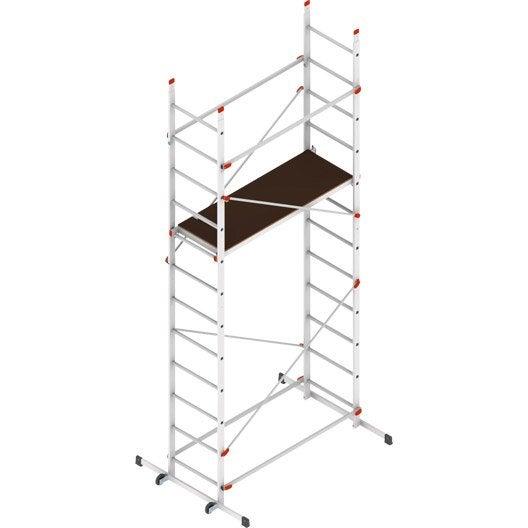 echafaudage aluminium easy clip 5 dexter hauteur de travail 4 4 m leroy merlin. Black Bedroom Furniture Sets. Home Design Ideas