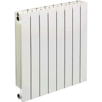 Radiateur chauffage central Vip 8 éléments, l.64 cm, 1144 W