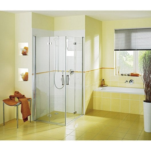 porte de douche pivo pliante breuer entra verre transparent chrom 80 cm. Black Bedroom Furniture Sets. Home Design Ideas