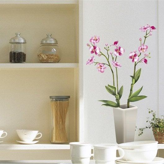 Sticker orchid es 50 cm x 70 cm leroy merlin - Stickers muraux cuisine leroy merlin ...