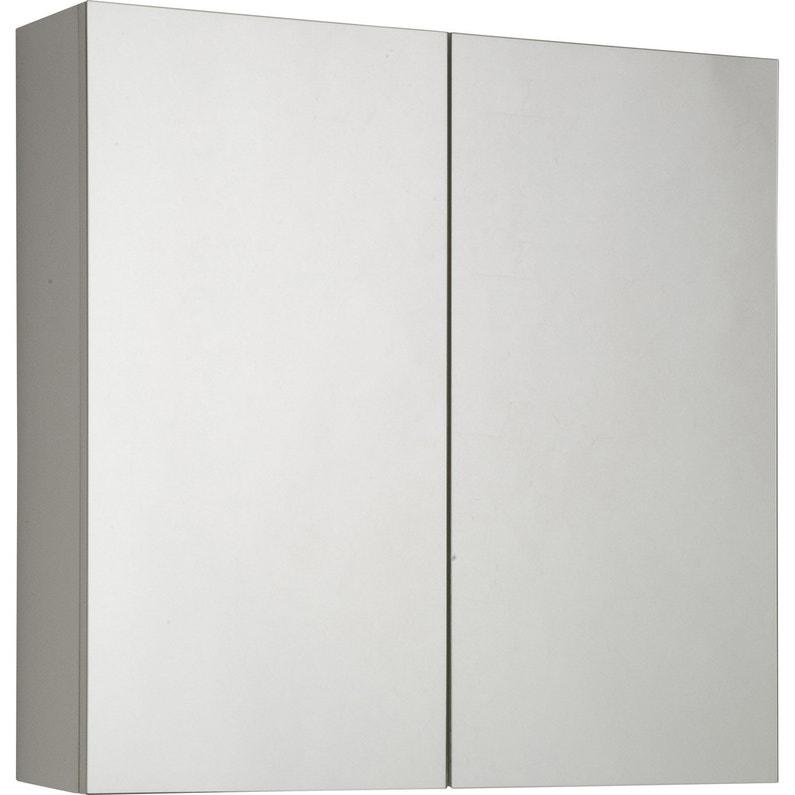 armoire de toilette cm blanc modulo leroy merlin. Black Bedroom Furniture Sets. Home Design Ideas