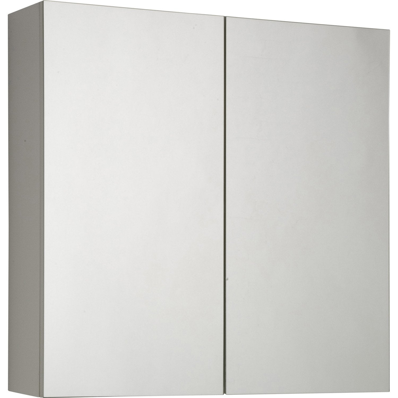 Armoire de toilette l.60 cm, blanc, Modulo | Leroy Merlin