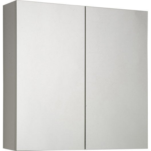 Armoire de toilette blanc cm sensea modulo leroy - Armoire de toilette castorama ...