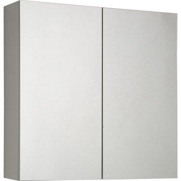 Armoire de toilette armoire salle de bains leroy merlin for Meuble mural profondeur 15 cm