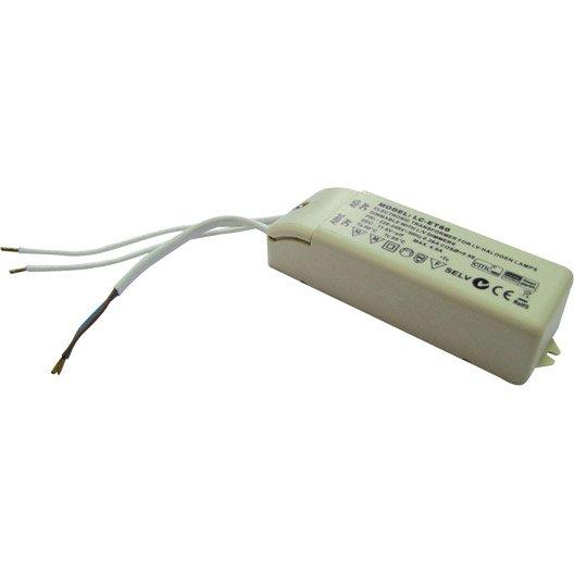 Transformateur électronique TIBELEC, plastique, beige 60 W