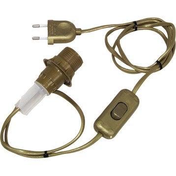 Adaptateur bouteille E14 TIBELEC, plastique or, 40 watts