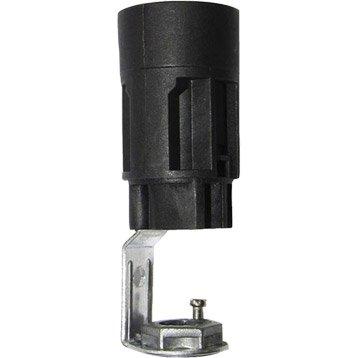 Support E14 TIBELEC, plastique, noir 60 W